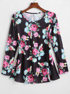 Long Sleeve Floral Swing Tee - Multi 2xl