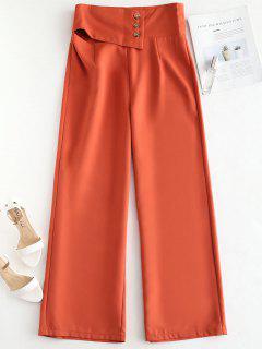 ceef509570 NEWDCC Pantalones De Palazzo De Pierna Ancha - Naranja Brillante M