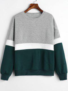 Sudadera Con Paneles De Color Block Fleece - Multicolor M