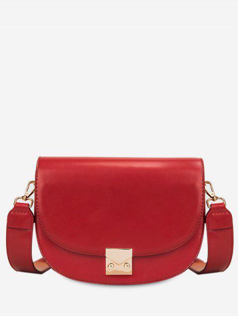 buy Metal Lock Design PU Crossbody Bag - RED  Mobile