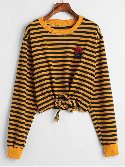 Gestreiftes Sweatshirt mit gestreiftem Batikstreifen - Multi L Mobile