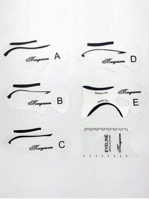 outfit Multifunctional Makeup Stencils Eyeliner Template Drawing Card - TRANSPARENT  Mobile