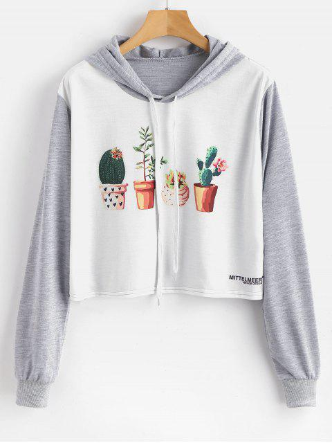 Sweat à capuche graphique imprimé de plantes en pot - Multi M Mobile