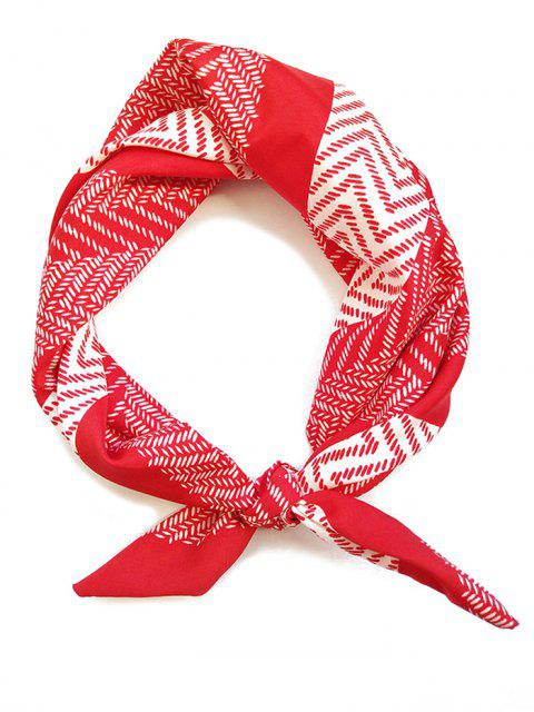 shops Geometry Print Headband Scarf - RED  Mobile