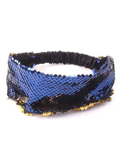 hot Sequins Elastic Hairband - CADETBLUE  Mobile
