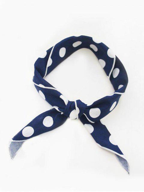 hot Stylish Polka Dot Printing Handkerchief Scarf - BLUEBERRY BLUE  Mobile