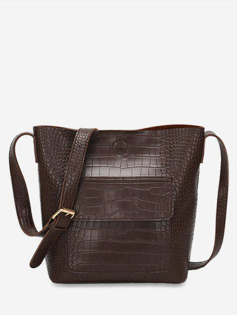 online Magnetic Hook Design Artificial Leather Crossbody Bag - COFFEE  Mobile