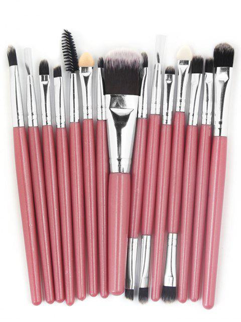 hot Professional 15 Pcs Fiber Soft Hair Cosmetic Tools Suit - LIGHT PINK  Mobile