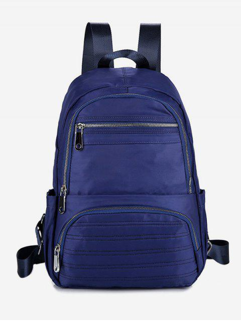 lady Multilayer Zipper Design Travel Backpack - DENIM DARK BLUE  Mobile