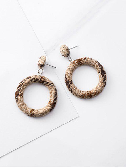 buy Hollow Out Round Design Earrings - BLACK  Mobile