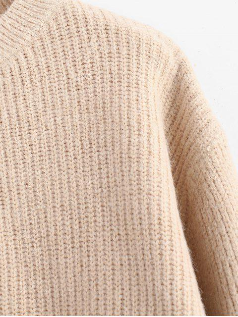 outfit Zig Zag Hem Crop Knitwear - BLANCHED ALMOND ONE SIZE Mobile