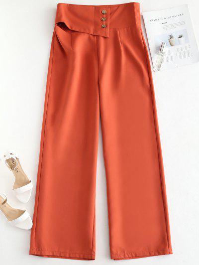 3e5b0e44d60 ZAFUL Wide Leg Palazzo Pants - Bright Orange S