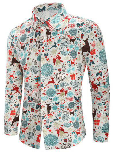 CamisaCasual Estampado Navidad - Multicolor Xl