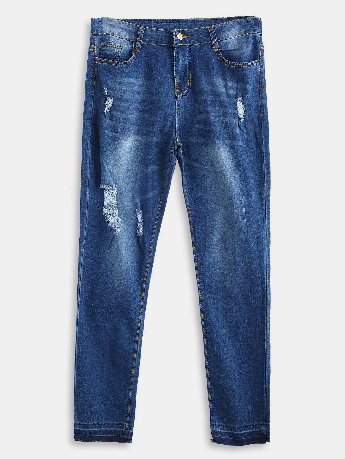 Destroyed Plus Size Skinny Jeans 327470301