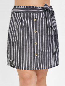 زر من خلال زائد حجم تنورة ميني - متعدد 3x