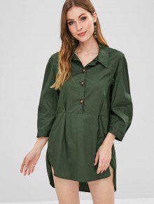 نصف القميص القميص اللباس - Dark Forest Green L