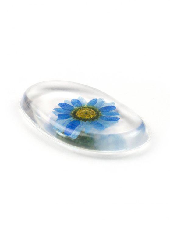 ladies Multifunctional Floral Transparent Silicone Makeup Sponge - OCEAN BLUE