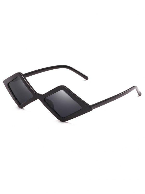 outfit Anti Fatigue Rhombus Frame Novelty Sunglasses - BLACK