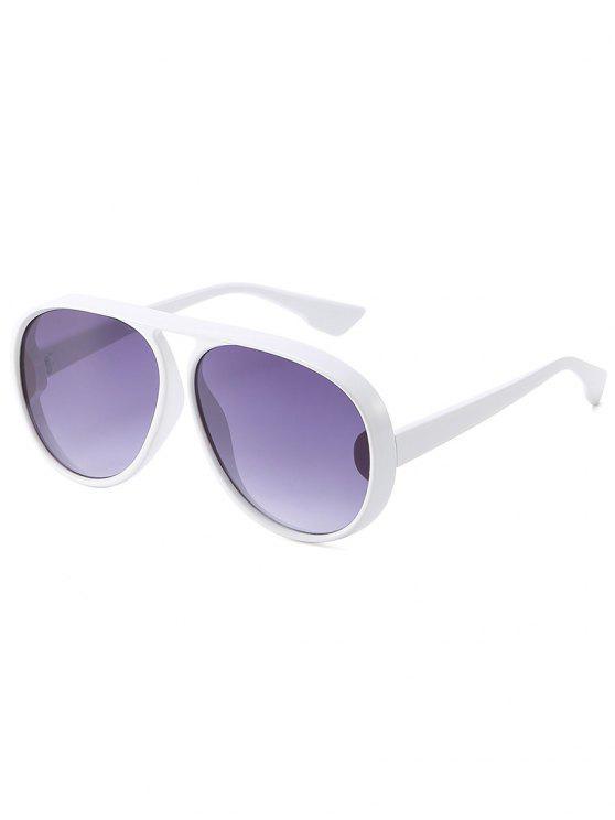 outfit Stylish Plastic Frame Shield Sunglasses - SMOKEY GRAY