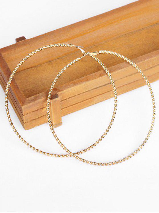 women Statement Circle Shape Hollow Earrings - GOLD