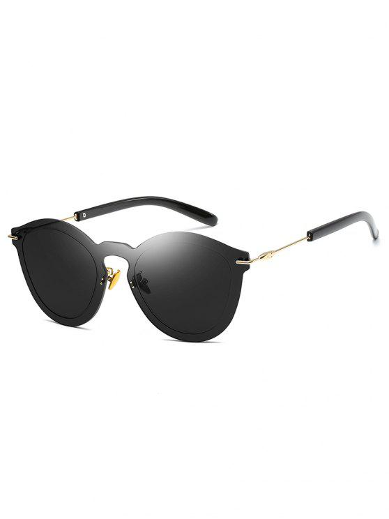 chic Metal Frameless PC Outdoor Sunglasses - BLACK