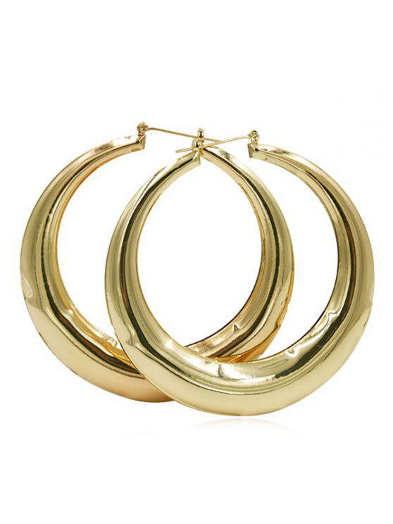 Alloy Simple Design Hoop Earrings Gold