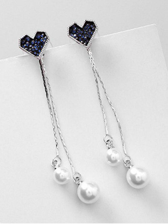 a85794ff8 9% OFF] 2019 Heart Shaped And Artificial Pearl Pendant Earrings In ...
