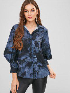 Tie Dye Balloon Sleeve Shirt - Multi L