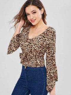 Camiseta Sin Mangas Con Estampado De Leopardo En La Cintura De Bell - Leopardo L