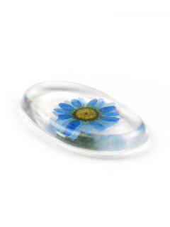 Multifunctional Floral Transparent Silicone Makeup Sponge - Ocean Blue