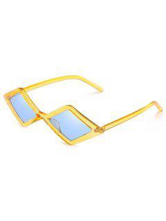 Anti Fatigue Rhombus Frame Novelty Sunglasses - Sun Yellow
