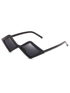 Anti Fatigue Rhombus Frame Novelty Sunglasses - Black