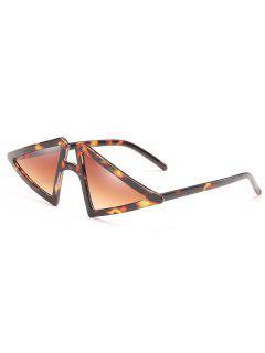 Anti Fatigue Irregular Triangle Frame Sunglasses - Brown