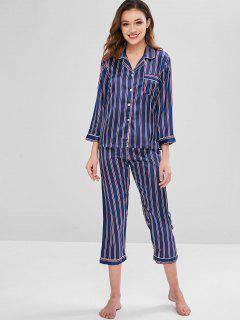 Ensemble De Pyjama à Rayures En Satin - Multi L