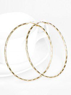 Geometric Oversize Hoop Earrings - Gold