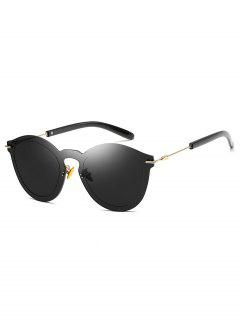 Metal Frameless PC Outdoor Sunglasses - Black