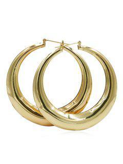 Alloy Simple Design Hoop Earrings - Gold