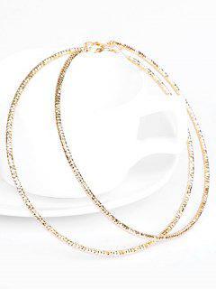 Simple Big Circle Hoop Earrings - Gold