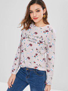 Long Sleeve Floral T-Shirt - Multi Xl