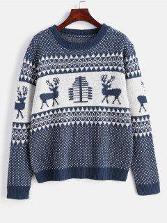 Tunic Graphic Textured Sweater - Multi Xl