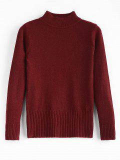 Basic Slim Fit Sweater - Red Wine