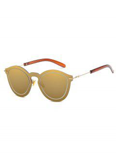 Metal Frameless PC Outdoor Sunglasses - Champagne Gold