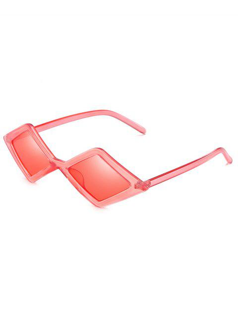 lady Anti Fatigue Rhombus Frame Novelty Sunglasses - FLAMINGO PINK  Mobile