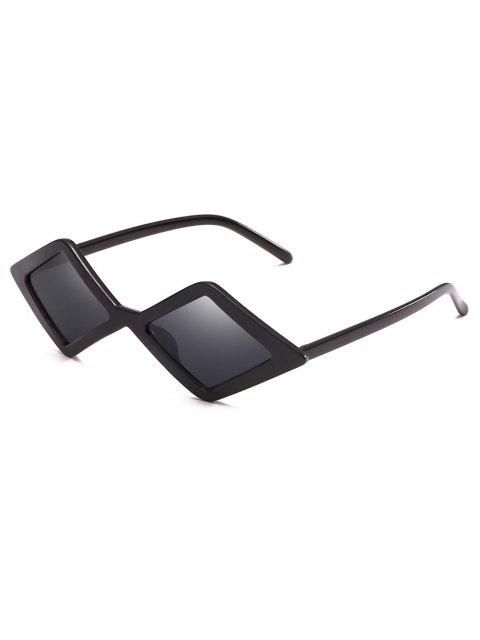 outfit Anti Fatigue Rhombus Frame Novelty Sunglasses - BLACK  Mobile