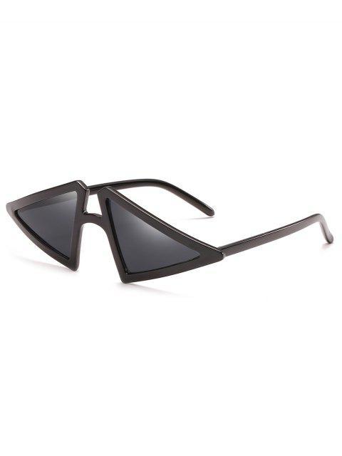 shop Anti Fatigue Irregular Triangle Frame Sunglasses - BLACK  Mobile