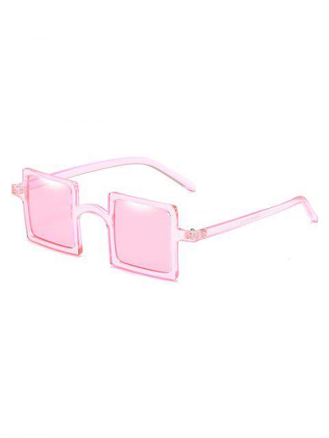fashion Squared Frame Novelty Sunglasses - LIGHT PINK  Mobile