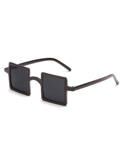 chic Squared Frame Novelty Sunglasses - BLACK  Mobile