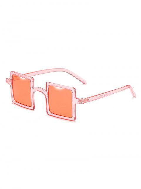 fancy Squared Frame Novelty Sunglasses - CHESTNUT RED  Mobile