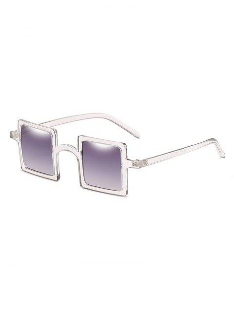 womens Squared Frame Novelty Sunglasses - CLOUDY GRAY  Mobile
