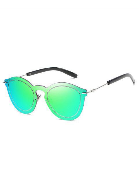 Rahmenlose PC-Outdoor-Sonnenbrille aus Metall - Kleeblatt Grün  Mobile